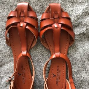 American Eagle leather sandals